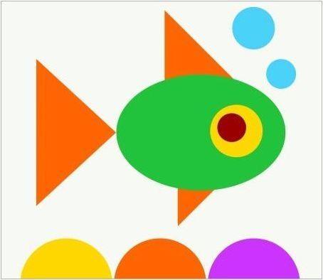 Апликации, изработени от геометрични форми