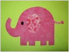 Приготвяне на Applique & # 171 + Elephant & # 187 +