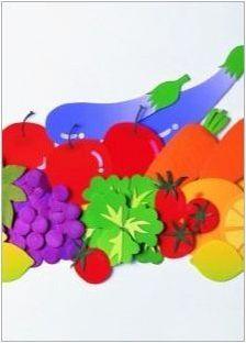 Разнообразие от апликации на темата & # 171 + зеленчуци & # 187 +