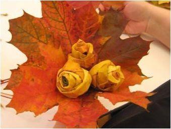 Създаване на букети от кленови листа със собствените си ръце