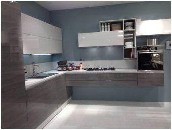 Бяло-сиви кухни: дизайн и примери за интериори