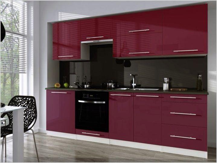 Бургундски кухни: цветови комбинации и опции за дизайн