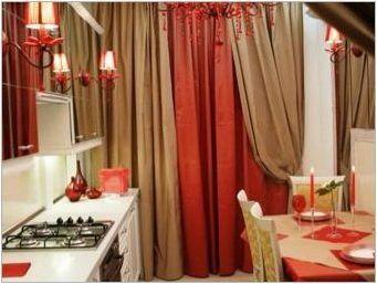 Червени завеси в кухнята: дизайн вид и съвети за подбор