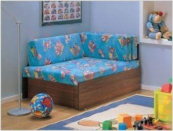 Детски ъглови дивани: Характеристики, видове и селекция