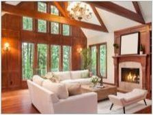 Дневна в дървена къща: прости и оригинални опции за интериорен дизайн