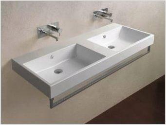Двойна мивка за баня: плюсове и минуси, препоръки за избор