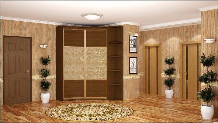 Ъглов гардероб в хола: видове и селекция
