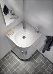 Ъглови мивки в банята: размери и препоръки