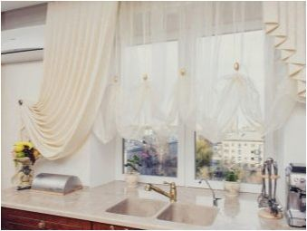 Изберете кухненски завеси за малка кухня