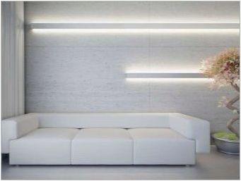 Как да си направим стена в хола над дивана?