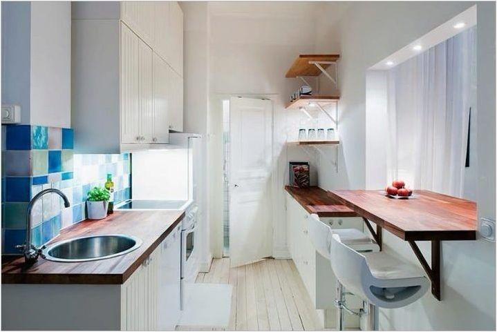 Каква ширина трябва да бъде настолен за кухнята?