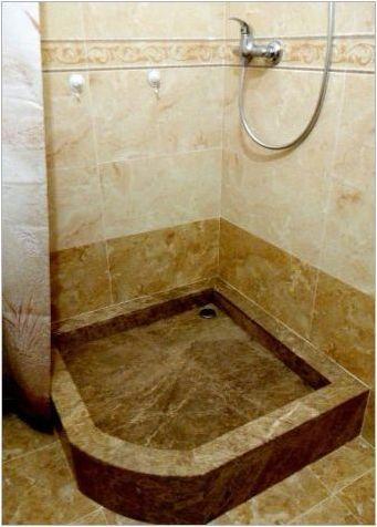 Каменни душ палети: сортове, избор, грижа