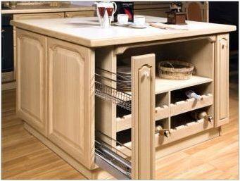 Кухненски маси с чекмеджета: предимства и недостатъци, видове и нюанси по избор