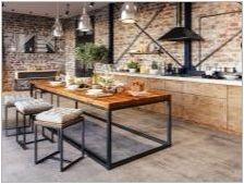 Кухненски маси в тавански стил: как изглежда и как да ги изберем?