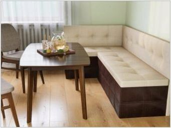 Кухненски мека мебел с кутия за съхранение: критерии за видовете и подбор