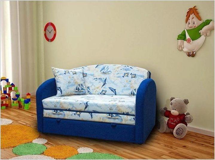 Малки дивани за дневната: сортове, избор, примери