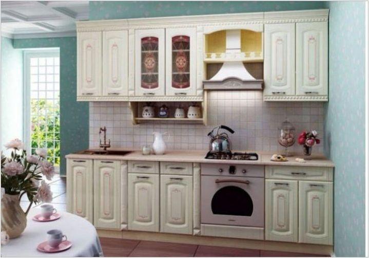 Малки прави кухни: оформление, дизайн и примери