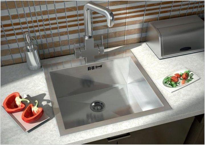 Мивки от неръждаема стомана за кухни: функции, видове и селекция