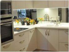 Огледална престилка за кухня: функции, разновидности, избор и грижа