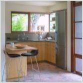 P-образната кухня с брояч на бара: дизайн примери