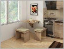 Плъзгащи се кухненски маси: типове, съвети за избор и работа
