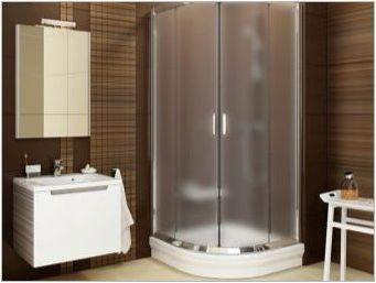 Полукръгални душ каси: изгледи, размери и тайни на избор