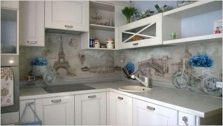 Престилка за кухня в стил Прованс: разновидности, избор, красиви примери