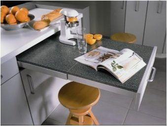 Прибиращи се маси за кухнята: разновидности и препоръки за избор