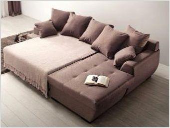 Сгъваеми ъглови дивани: Характеристики, видове и селекция