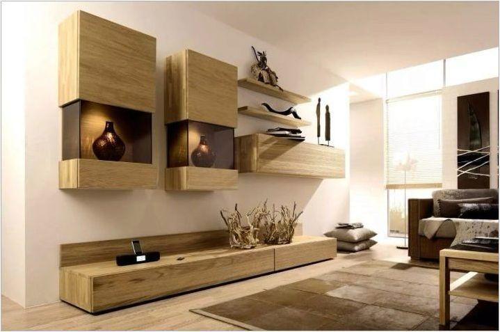 Шкафове в хола: избор и дизайн