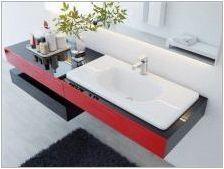 Суспендирана мивка в банята: видове и правила на инсталацията