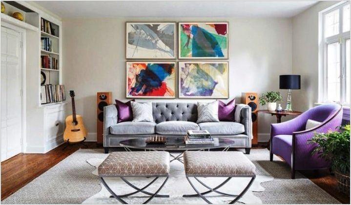Тапети за залата в апартамента: сортове, селекция и опции в интериора