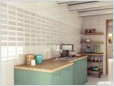 Tile Cabanchik на кухненска престилка: избор и полагане