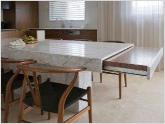 Трапезария за кухня с плъзгаща се маса: Характеристики и селекция