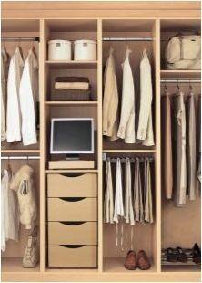 Вътрешно пълнене на шкафове в коридора