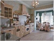Завеси в стила на Прованс в кухнята: видове и идеи за регистрация