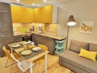 Жълти кухни: избор на слушалки, дизайн и комбинация от цветове