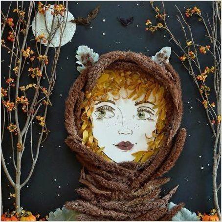 DIY & # 171 + Есенно момиче & # 187 + лист