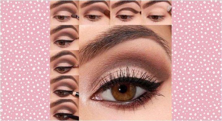 Създаване на вечерен грим за момичета с кафяви очи