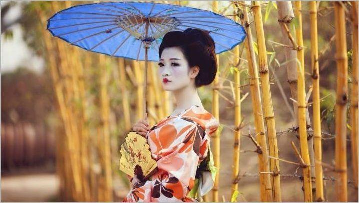 Японски гейша грим функции