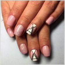 Дизайн маникюр гел лак на къси нокти