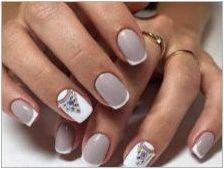 Дизайн на ноктите със сив гел-лак