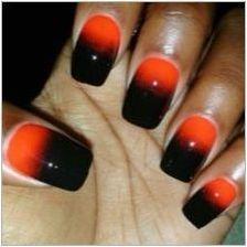 Дизайн с гел лак в оранжеви нюанси