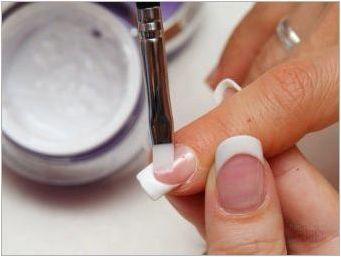 Характеристики на използването на акрилни прахове за нокти