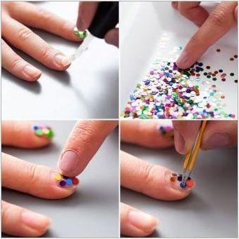 Идеи и методи за създаване на маникюр с пайети