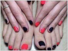 Ярък педикюр - оригинални идеи за дизайн на нокти