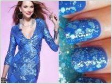 Ние избираме маникюр под синя рокля