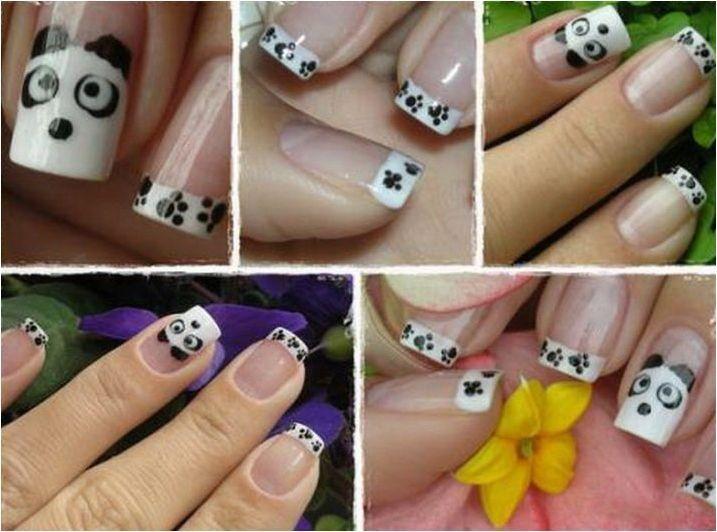 Опции за дизайн на маникюр с панда