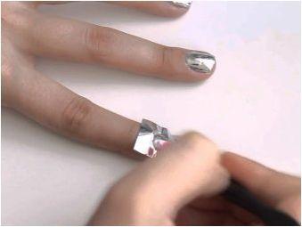 Стилни дизайнерски опции за Mirror Manicure и правилата за неговото прилагане