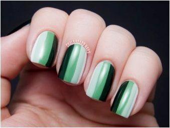 Зелен гел лак: възможни комбинации и опции за дизайн